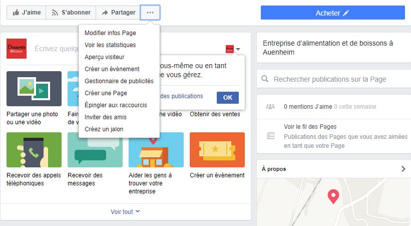 Tuto créée une page professionnellle facebook